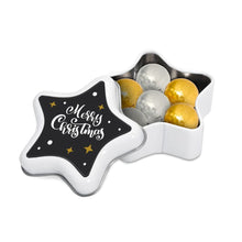 Load image into Gallery viewer, Foiled Chocolate Balls Star Tin