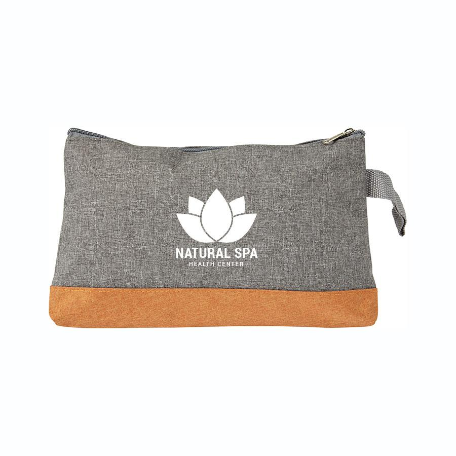 Canvas Toiletry Bag With Zipper