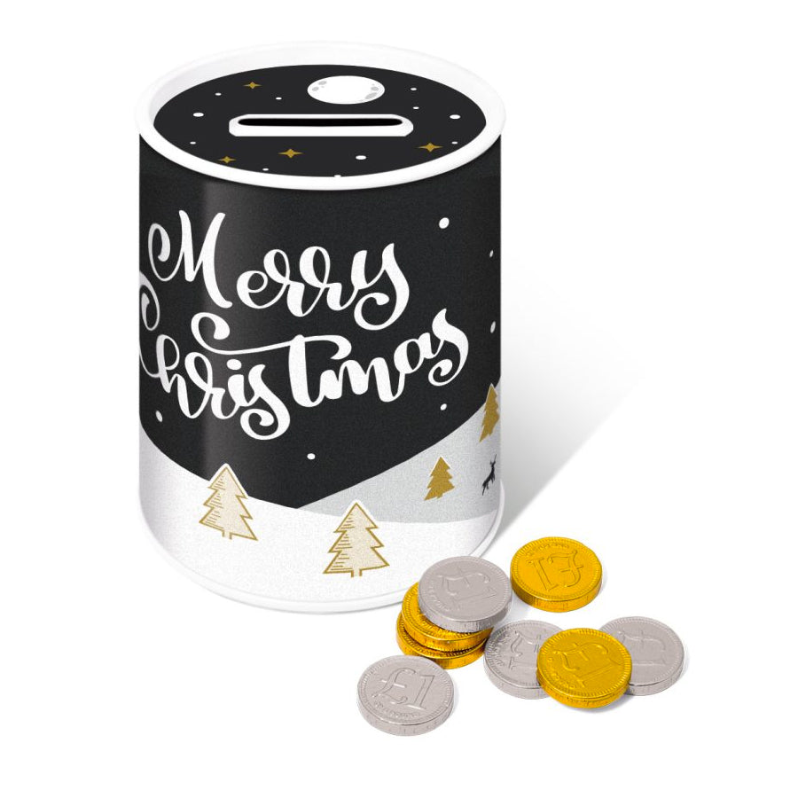 Chocolate Coins Money Tin