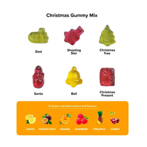Eco Kraft Cube Christmas Fruit Gums