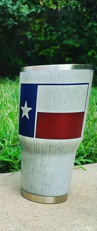 Texas Flag Tumbler - Veterans Edge