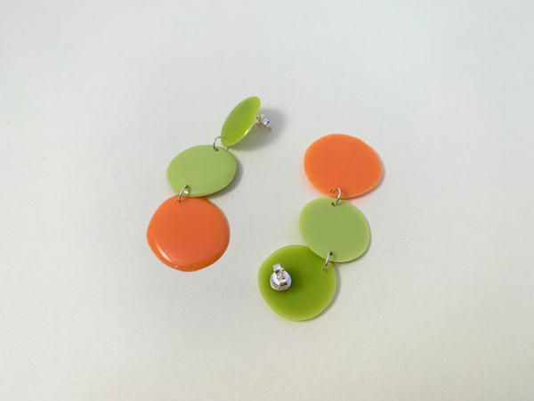 triple drop earrings-citrus