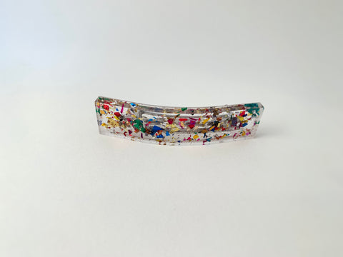 Small Jetty Barrette-Multicolored Confetti