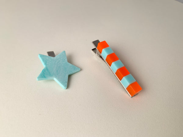 [Made to Order] Cubular Clip-Neon and Baby Blue