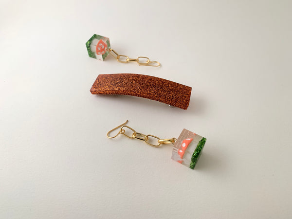 Small Jetty Barrette-Copper Head