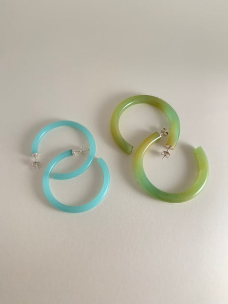 Swooped Hoopz-Blue Green Jade