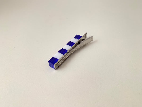 Cubular Clip-True Blue and White