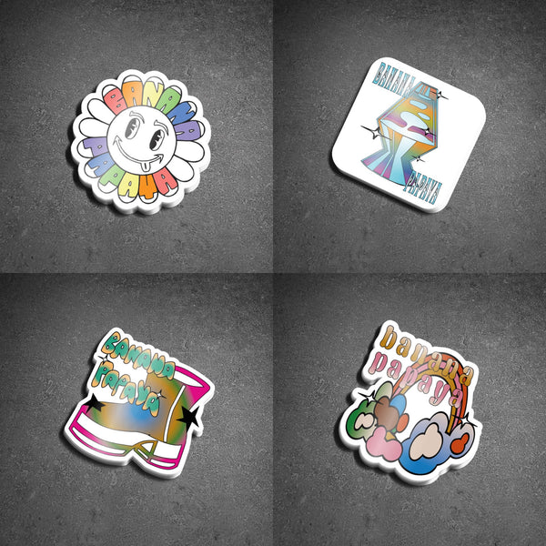 Banana Papaya Sticker Pack (4 stickers) R2S