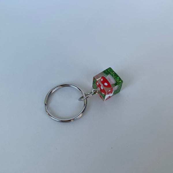 [Made To Order] Cube Keychain- Red Amanita