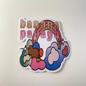 Banana Papaya Sticker Rainbow R2S