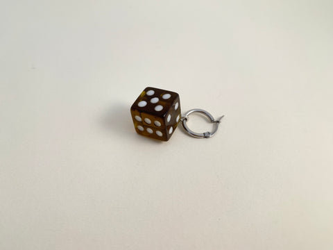 R2S: Dice Earring-Kelp Single Hoop