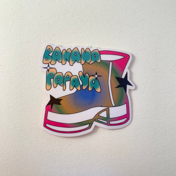 Banana Papaya Sticker Disco Shoe R2S