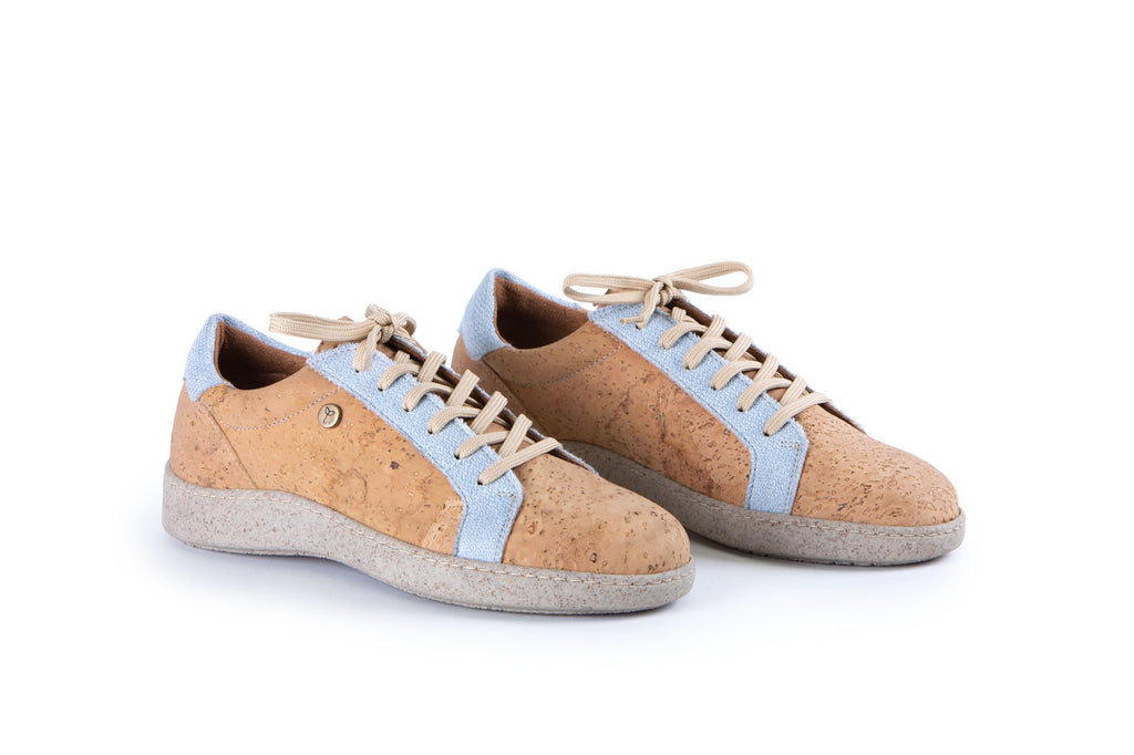 The Blue Espresso | Cork Sneakers