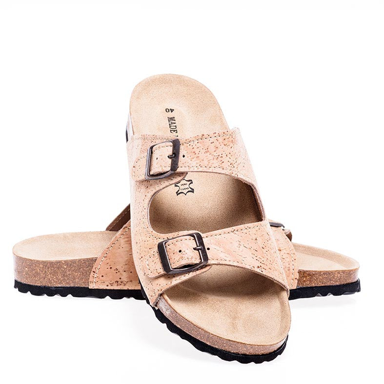 Two Strap Cork Sandals Lagos