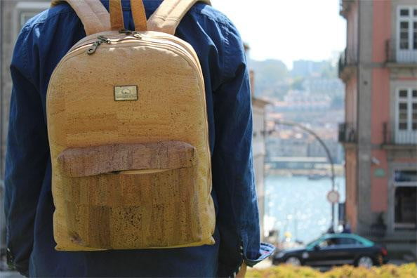 Big Natural Cork Backpack - cultura-portuguesa