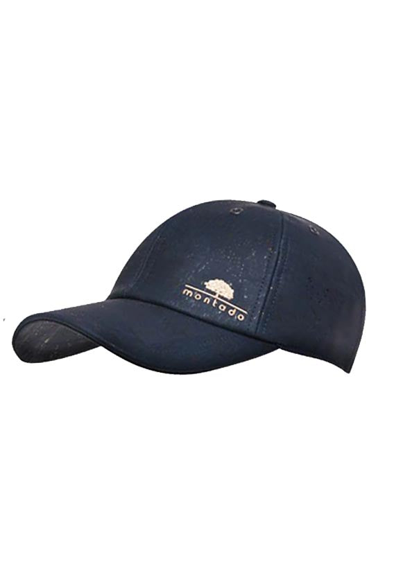 Blue cork cap with montado logo