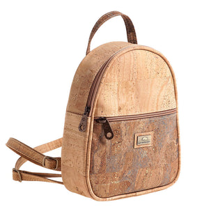 Small Cork Backpack Low Camel