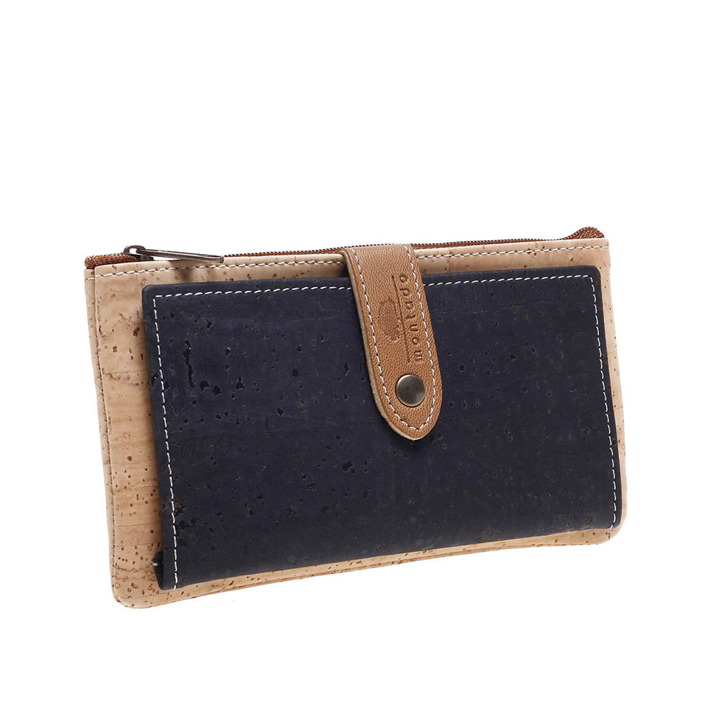 Cork coin dark blue purse
