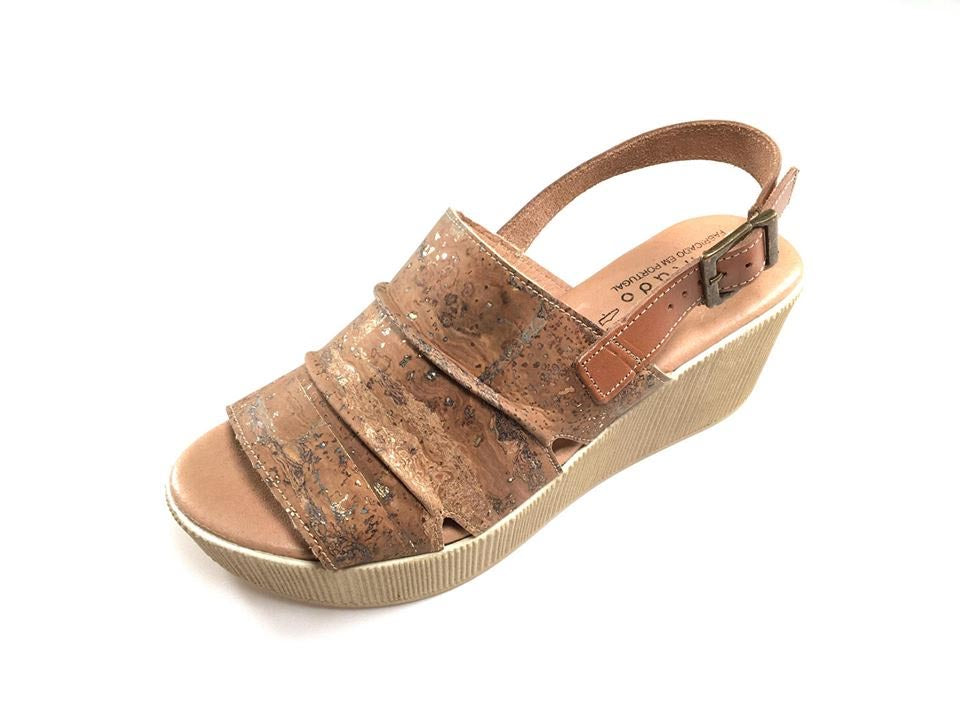 Cork Golden Sandals