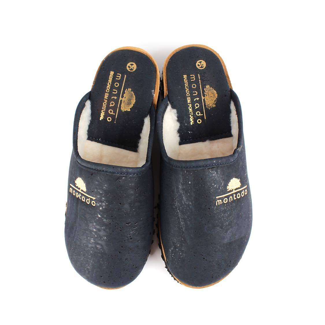 Vegan Cork Slippers Blue | Sea