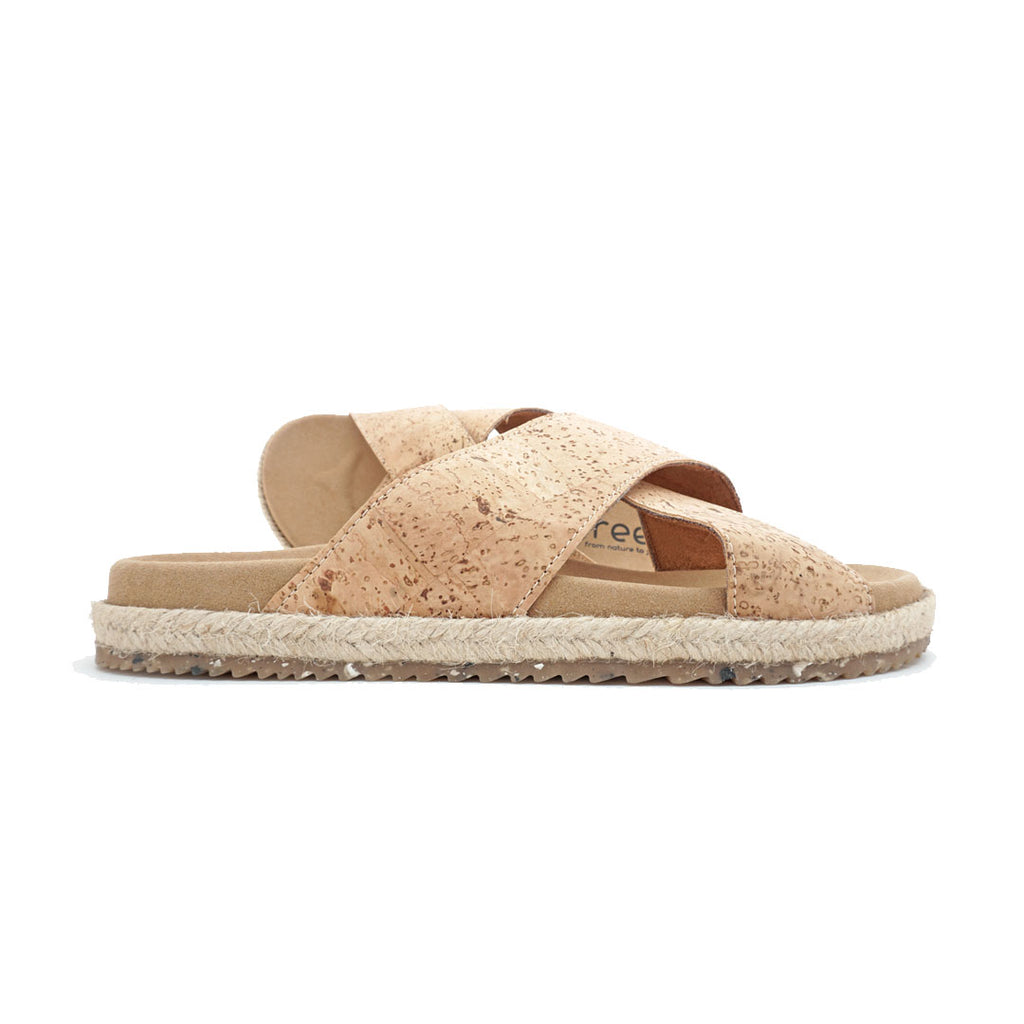 Cross Recycled X | Recycled Cork Sandals