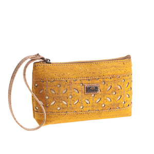 Cork Zip Yellow Purse