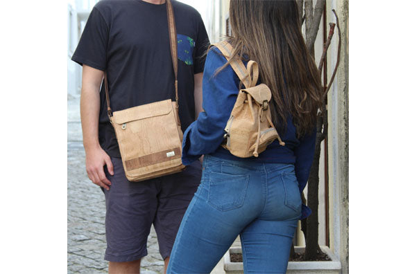 Natural Men Cork Shoulder Bag - cultura-portuguesa