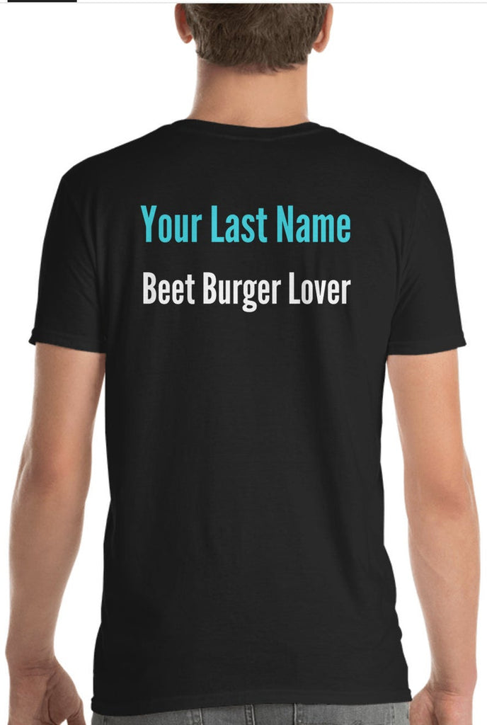 """Beet Burger Lover"" Custom Adult BurgerFit Shirt - Unisex"