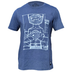 Ono tee in Heathered Blue