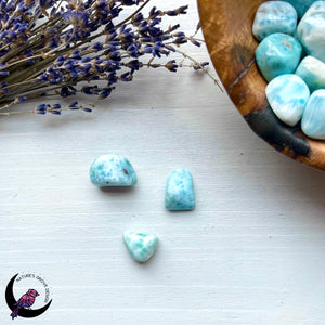 Larimar Tumbles 3 pieces
