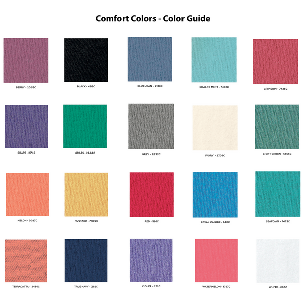 Comfort Colors Color Guide