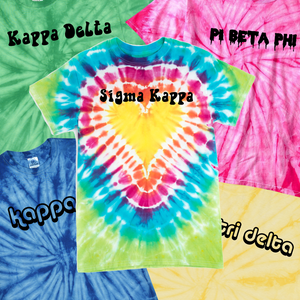 custom sorority tie dye event kit with comforts colors tees