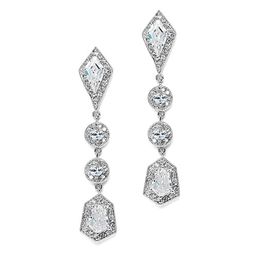 Empress & Noble Cut Cubic Zirconia Drop Earrings By the Ring Madam