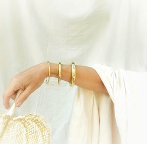 Simple set of 3 brass bangle by the Ring Madam