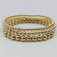 Load image into Gallery viewer, Beaded 14 Karat Gold Filled Stretch Bracelets by the ring madam