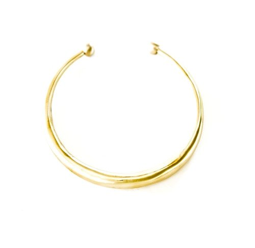 Collar Necklace in Brass Polished Gold Finish