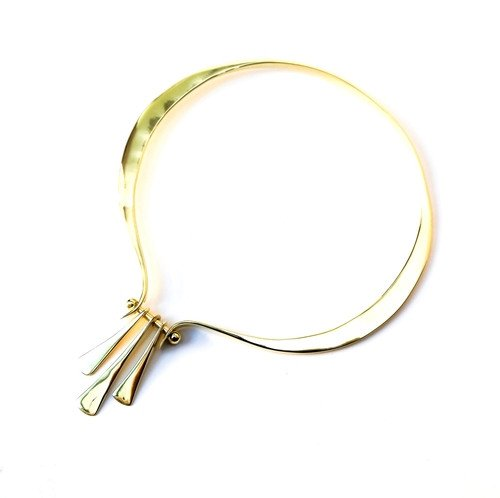 Gold Brass Statement Hinge Collar/Necklace, Handmade by the ring madam