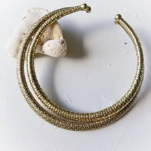 Load image into Gallery viewer, Medium Textured Fish-Scale Brass Collar By the Ring Madam