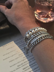 Sterling silver friendship bracelets by The Ring Madam