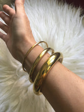 Load image into Gallery viewer, Gold Brass Bangles, Set of 3 Sizes in Gold Finish