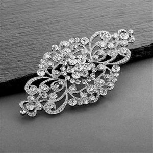 Vintage Art Deco Crystal Bridal Brooch by the ring madam