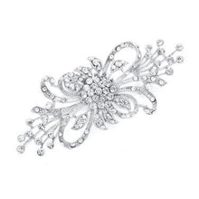 Load image into Gallery viewer, Dramatic Crystal Spray Bridal Brooch by the ring madam