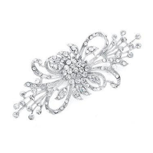 Dramatic Crystal Spray Bridal Brooch by the ring madam