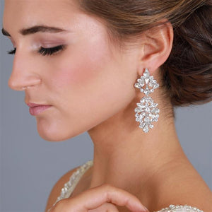 Chandelier Crystal Drop Earrings by the ring madam