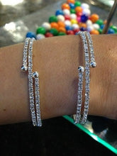 Load image into Gallery viewer, Rhinestone Bracelet Double Coil Wrap