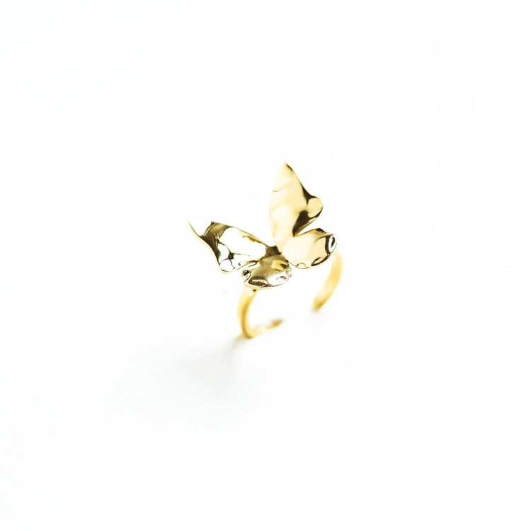 butterfly ring in brass by the ring madam