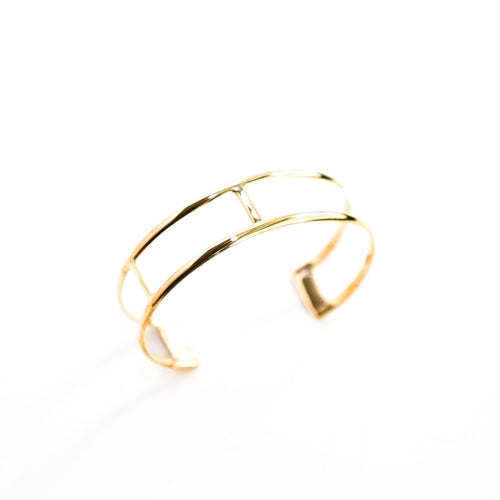 gold brass curve cuff the ring madam