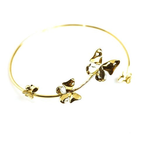 Butterfly Necklace Collar in Brass, Handmade by the ring madam