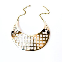 Load image into Gallery viewer, Gold Collar Lattice Design in Solid Brass by the ring madam