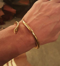 Load image into Gallery viewer, Snake Bracelet Brass, Handmade in Gold Finish
